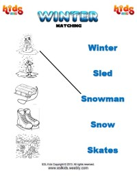 Number Names Worksheets  Winter Worksheets For Kids