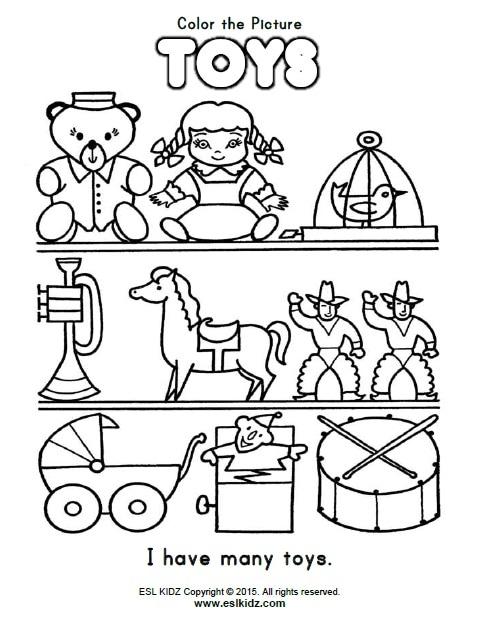 Toys Worksheet Pdf