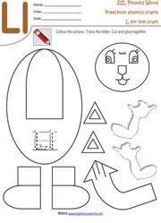Cut And Paste Worksheets For Kindergarten Alphabet