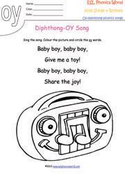 Diphthong Songs, Phonics Songs, Kids Phonics Diphthongs