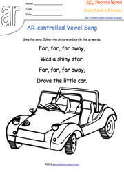 R-Controlled Vowel Songs, Phonics Songs, Kids Phonics