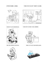 English teaching worksheets: Daily routines