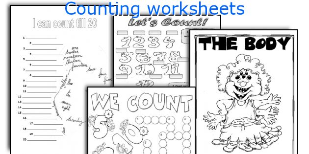 English teaching worksheets: Counting
