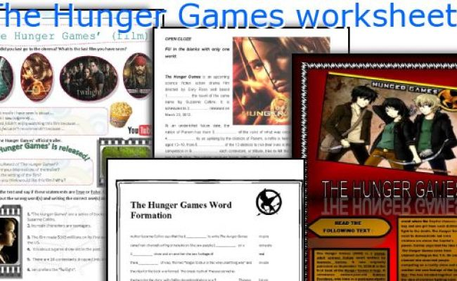 The Hunger Games English Lesson Plans Recent Movies