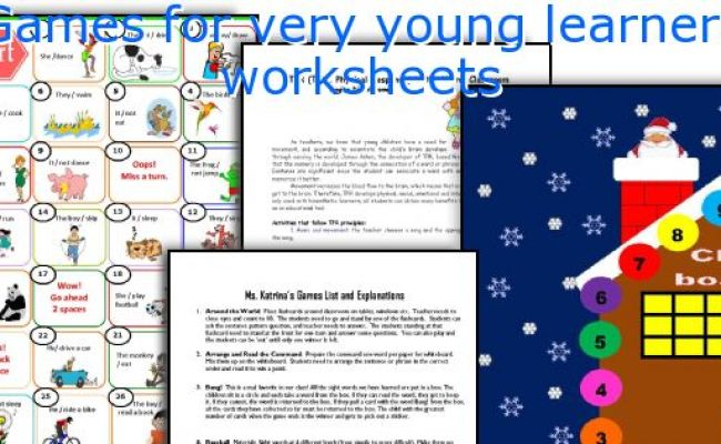 English Teaching Worksheets Games For Very Young Learners