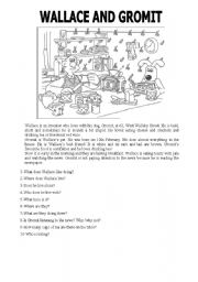 Wallace and Gromit worksheets