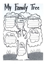 English Exercises: My Family Tree