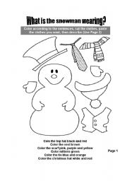 The snowman worksheets
