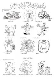 Halloween worksheets