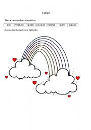 The rainbow worksheets