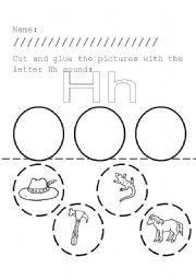 English worksheets: Letter Hh