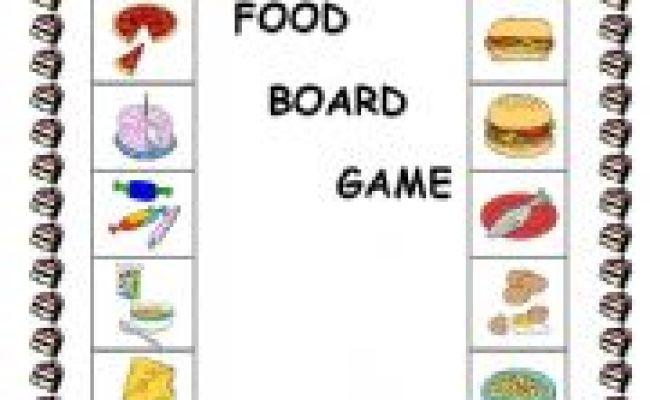 The Food Board Game Esl Worksheet By Elinescheffer