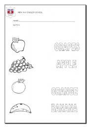 fruits exercises