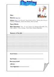 English Worksheets God Must Be Crazy Ii Film Review Worksheet
