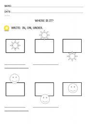 English worksheets: PREPOSITIONS