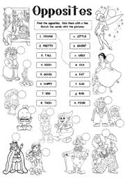 The opposites worksheets