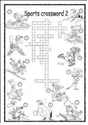 Sports crosswords worksheets