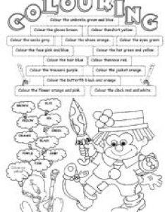 English worksheet colouring also colours worksheets rh eslprintables