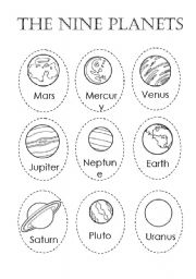 The planets worksheets