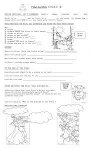 Shrek worksheets