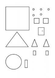 English worksheets: House of shapes bw