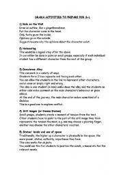 Drama Worksheets