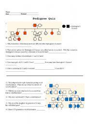 English Worksheets Pedigree Quiz