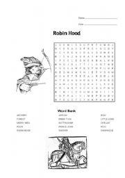 Robin Hood worksheets