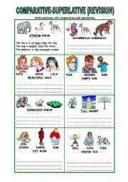 Comparative Superlative 2 Pages