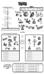 English Exercises: I´ve got a bike