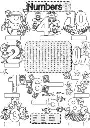 Numbers wordsearch worksheets