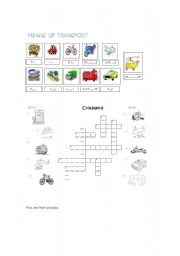 Transports crosswords worksheets
