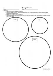 English worksheets: Synonym Snowman student paper