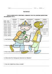 English Exercises School Subjects 2 Exercises