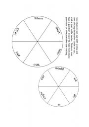 Spinners worksheets