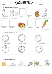 English Exercises: Meal Time