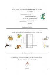 Treasure Hunt worksheets