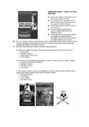 Thank you for smoking (worksheet: questions on film
