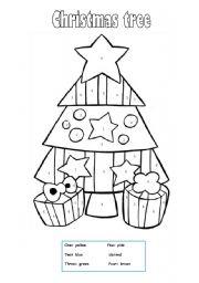 Christmas tree worksheets