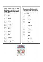 English worksheets: There was an Old Lady who Swallowed a