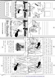 Aesop´s Fables: The Ant and the Chrysalis [ Mini-book