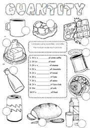 COUNTABLE AND UNCOUNTABLES NOUNS-QUANTIFIERS-QUANTITIES (B