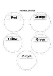 English worksheets: Skittle Sort