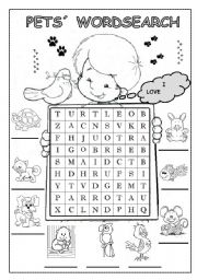 Pets worksheets