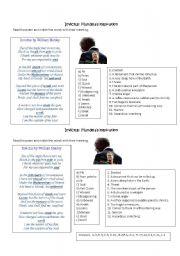 Invictus worksheets