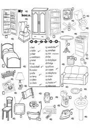 Furniture worksheets