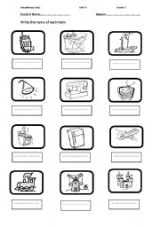 Vocabulary quiz worksheets