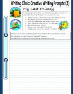 English worksheet writing clinic creative prompts my last holiday also worksheets rh eslprintables