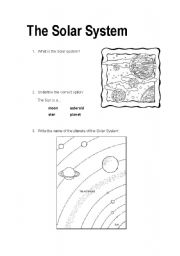English worksheets: The Solar System