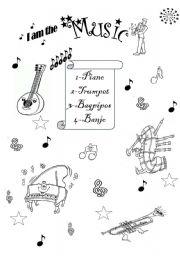 English worksheets: I´m the music man